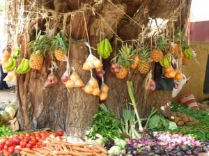 Ein Marktstand in Kenya