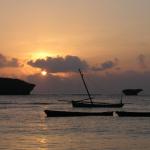 Strand von Mtwapa am Abend